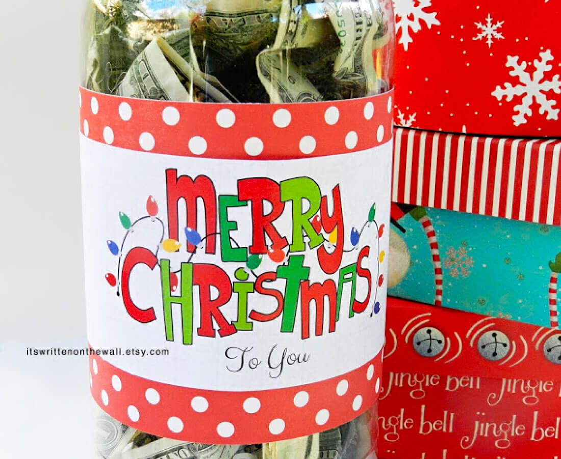 Christmas cash- perfect for last minute gifts!