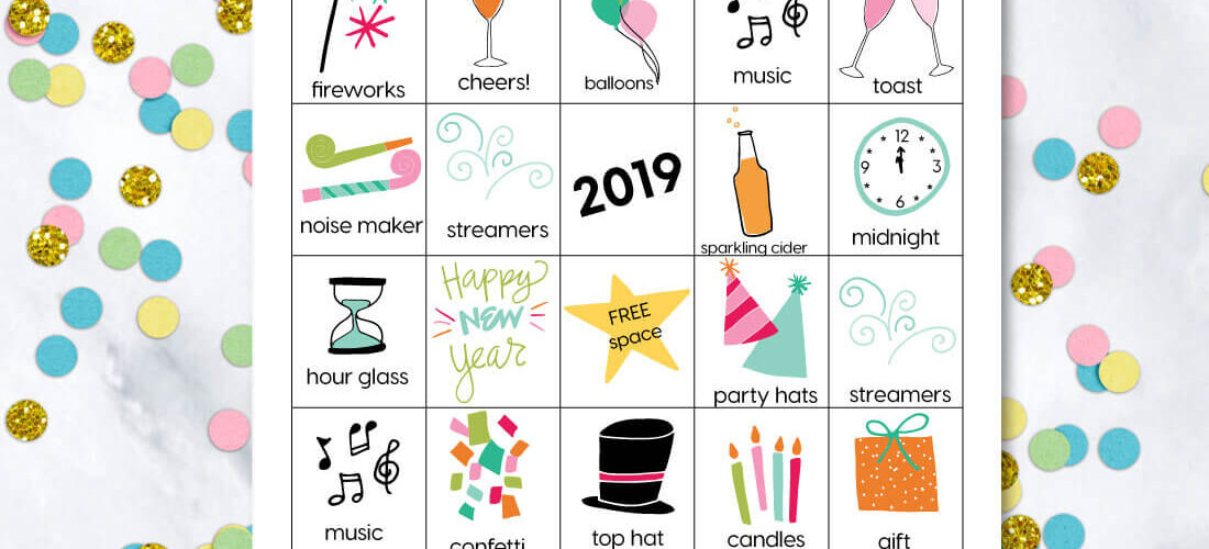 Printable New Year's Eve BINGO Sheets