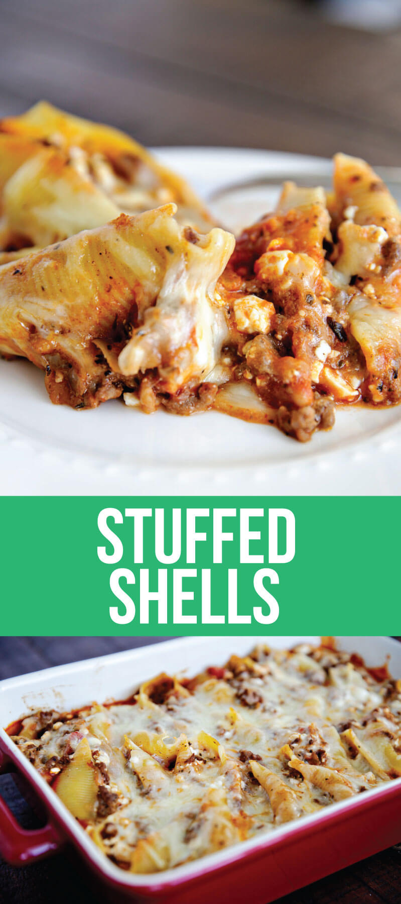 Stuffed Shells Recipe - an easy recipe that can be made ahead and your whole family will love it! www.thirtyhandmadedays.com