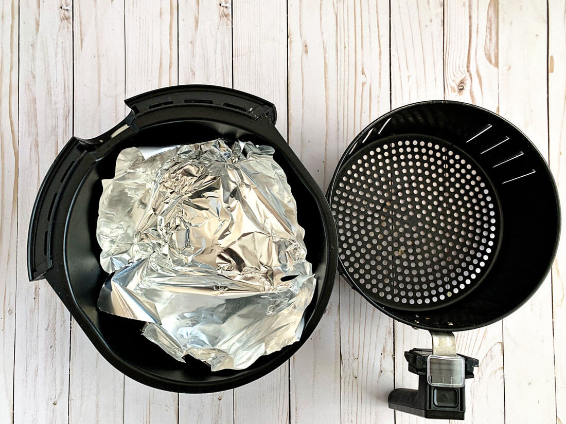 Air fryer tip - add tin foil to the bottom of the basket