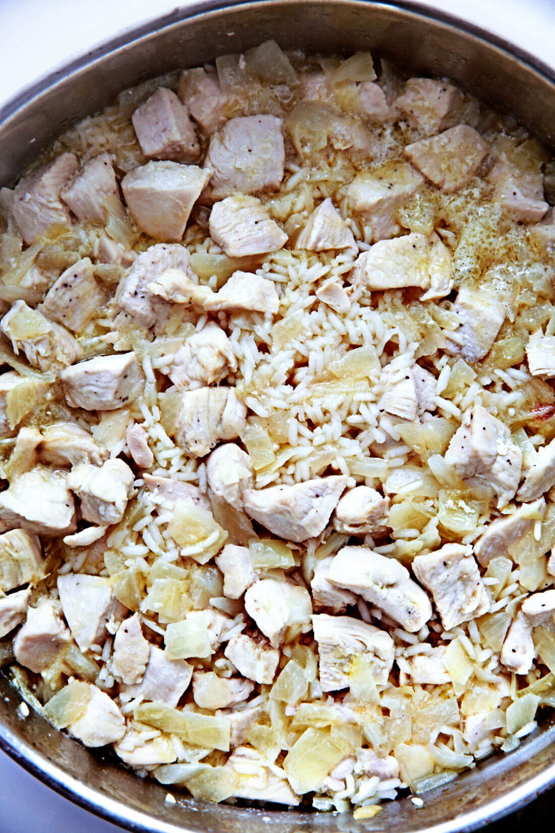 Chicken and Rice - after the rice has cooked