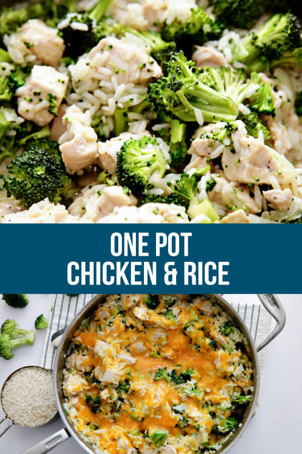 Chicken and Rice Recipe - an easy one pot meal that your whole family will love.