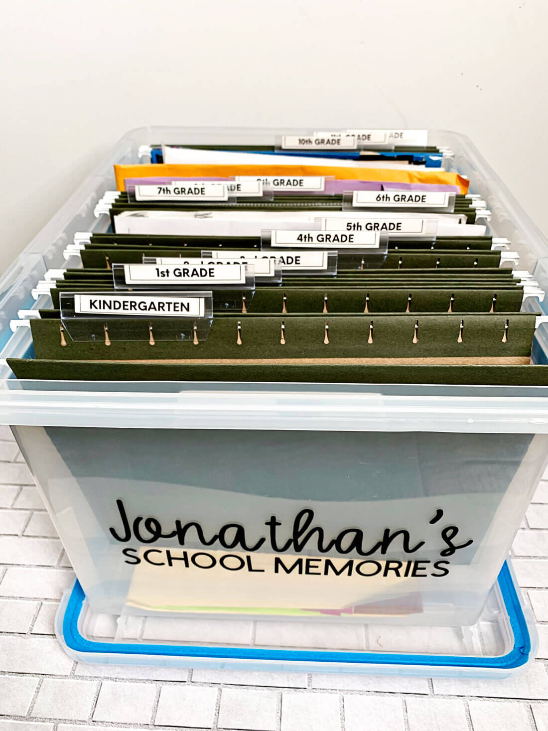 How to organize school papers and memorabilia