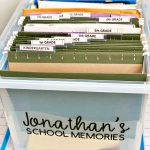 How to organize school papers and memorabilia with printables www.thirtyhandmadedays.com