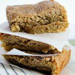 Snickerdoodle Blondies - easy to make treat with cinnamon and sugar!