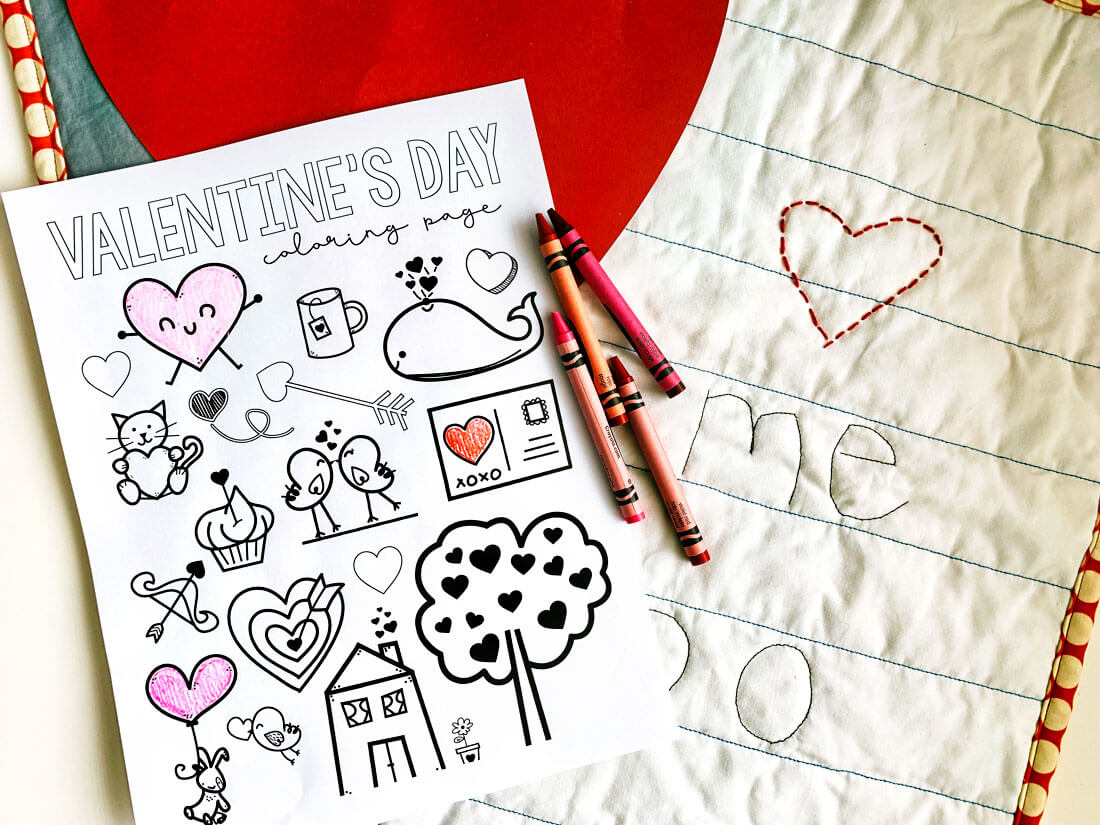 Free Printable Valentine's Coloring Pages to print out and color in from www.thirtyhandmadedays.com