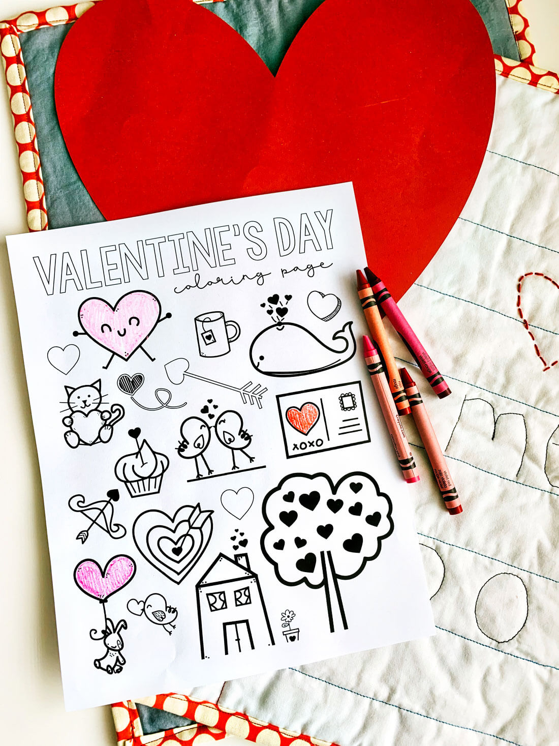 photograph about Printable Valentine Coloring Page named Valentines Coloring Webpages