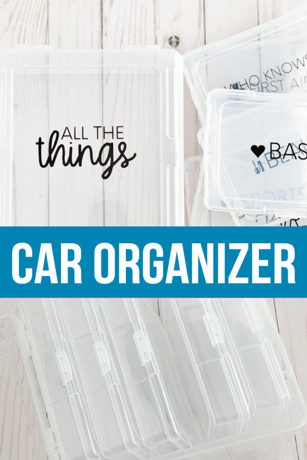 Car Organizer for your Console - use this container to make things more organized! from www.thirtyhandmadedays.com