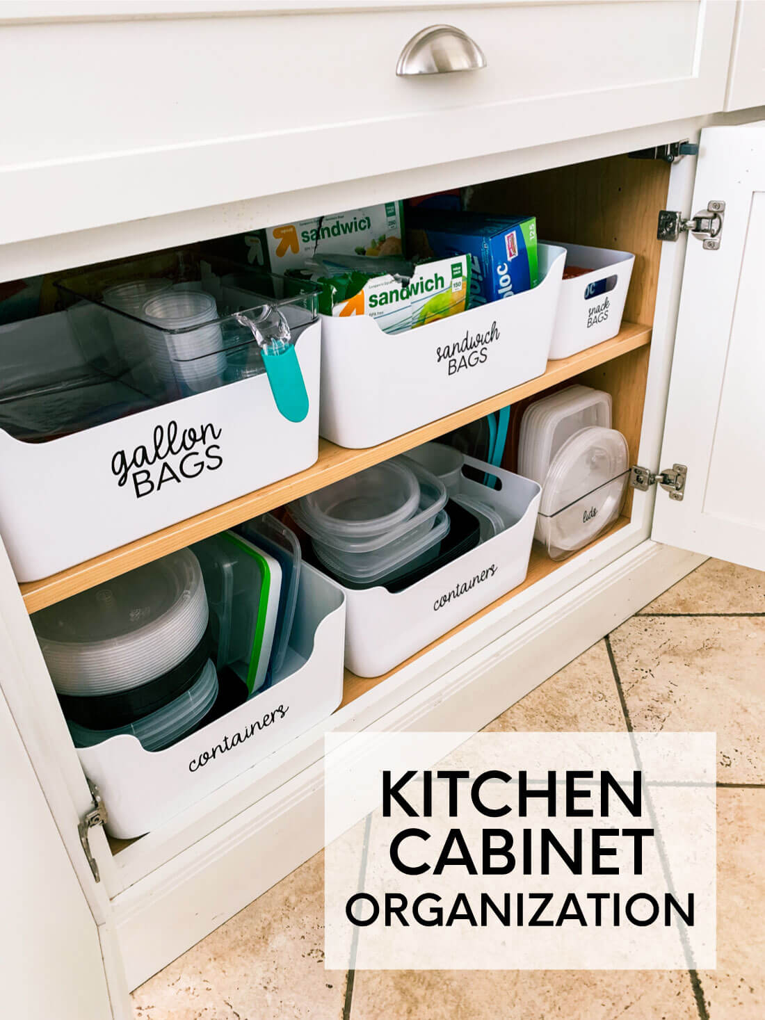 How to organize kitchen cabinets - the basics.