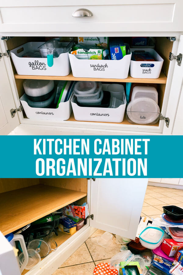 How to organize kitchen cabinets - the basics of how to organize your cabinets to be useful and look nice. www.thirtyhandmadedays.com