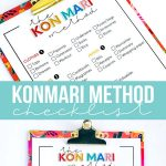 The KonMari Method Checklist - print this out and use to declutter your home!