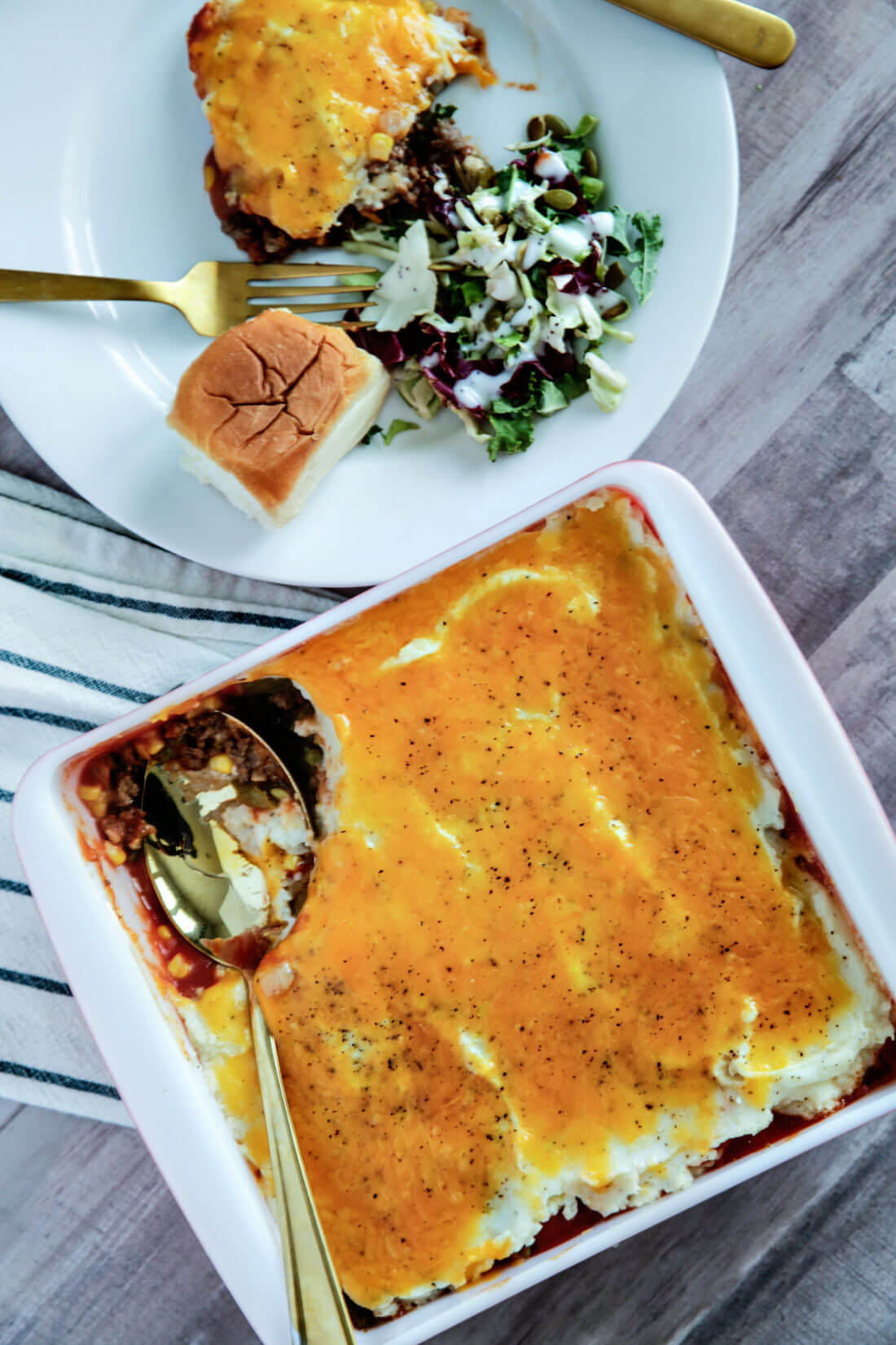 Shepards Pie - easy to make family dinner to serve with rolls and salad.