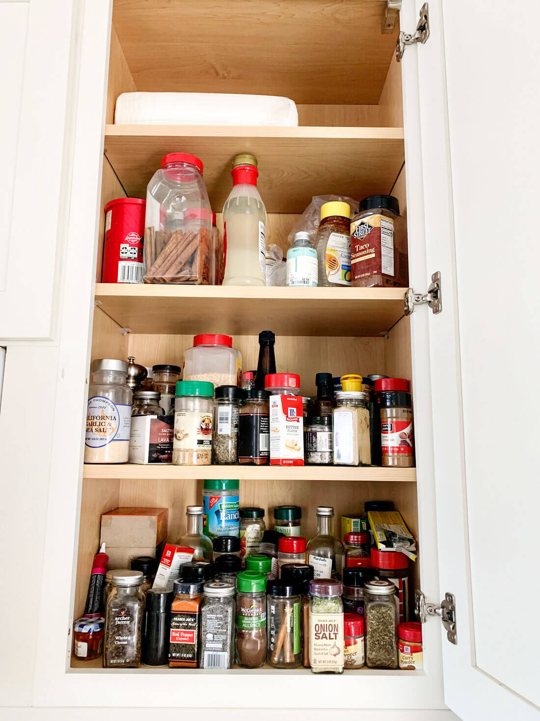 How to organize your spice rack - the before!