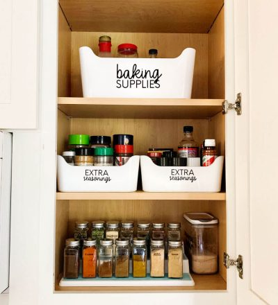 How to organize your spice rack - the after