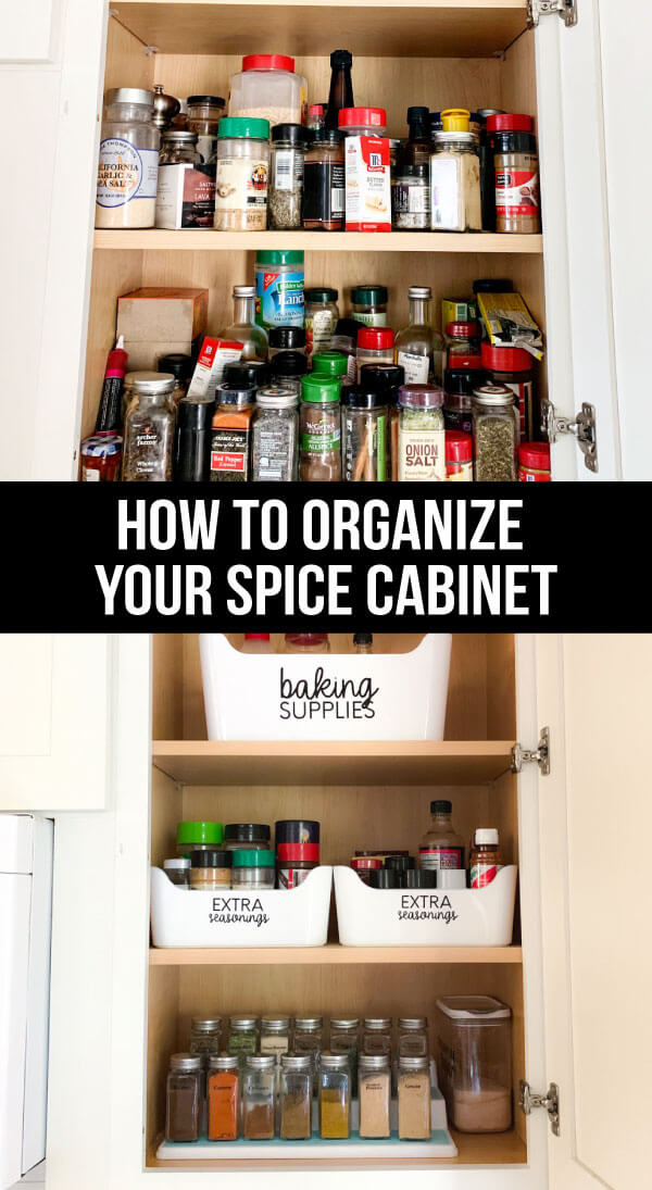 How to organize your spice rack - the after. What I used, how I cleaned it all up. www.thirtyhandmadedays.com