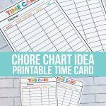 Chore List idea - Printable Time Cards to help kids learn how to work. www.thirtyhandmadedays.com