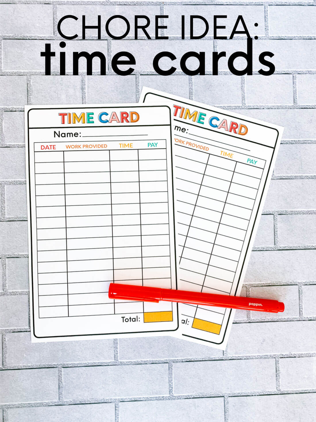 graphic about Time Card Printable named Chore Record Principle: Printable Season Card