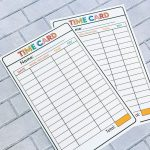 Chore List idea - Printable Time Cards to help kids learn how to work. from www.thirtyhandmadedays.com