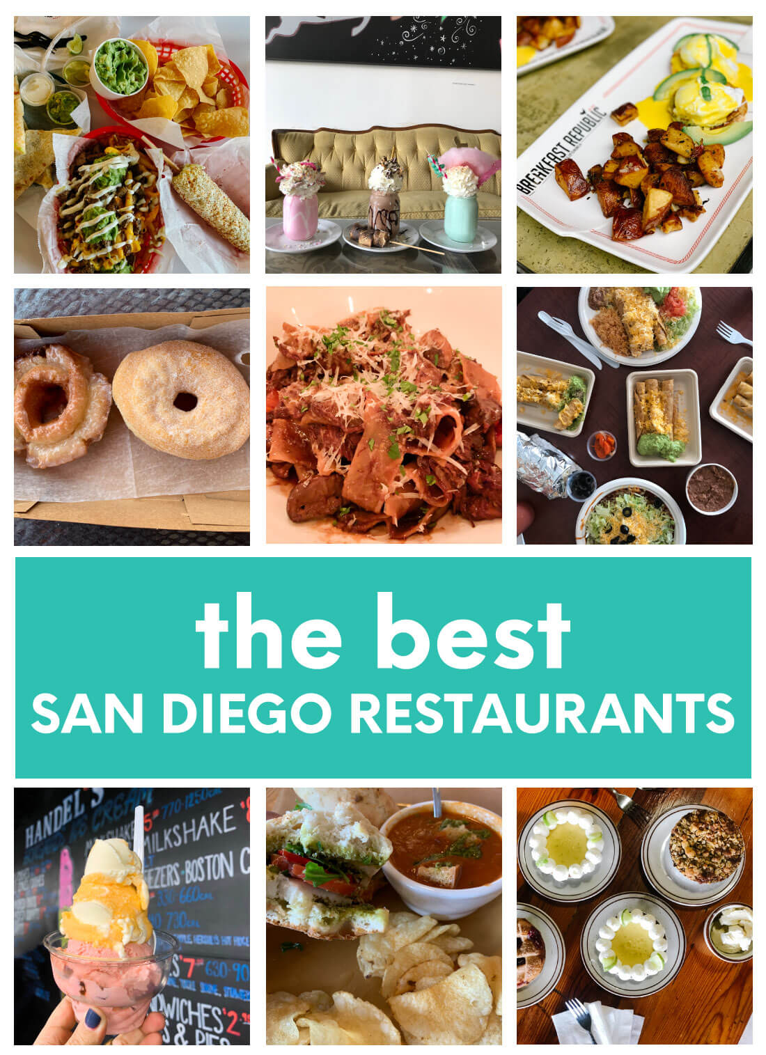 Collage of the Best San Diego Restaurants