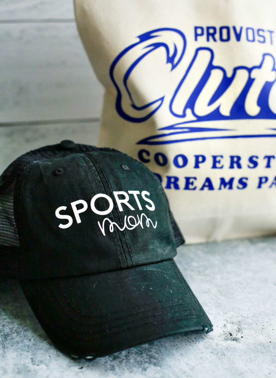 Add HTV to hat using Cricut Easy Press