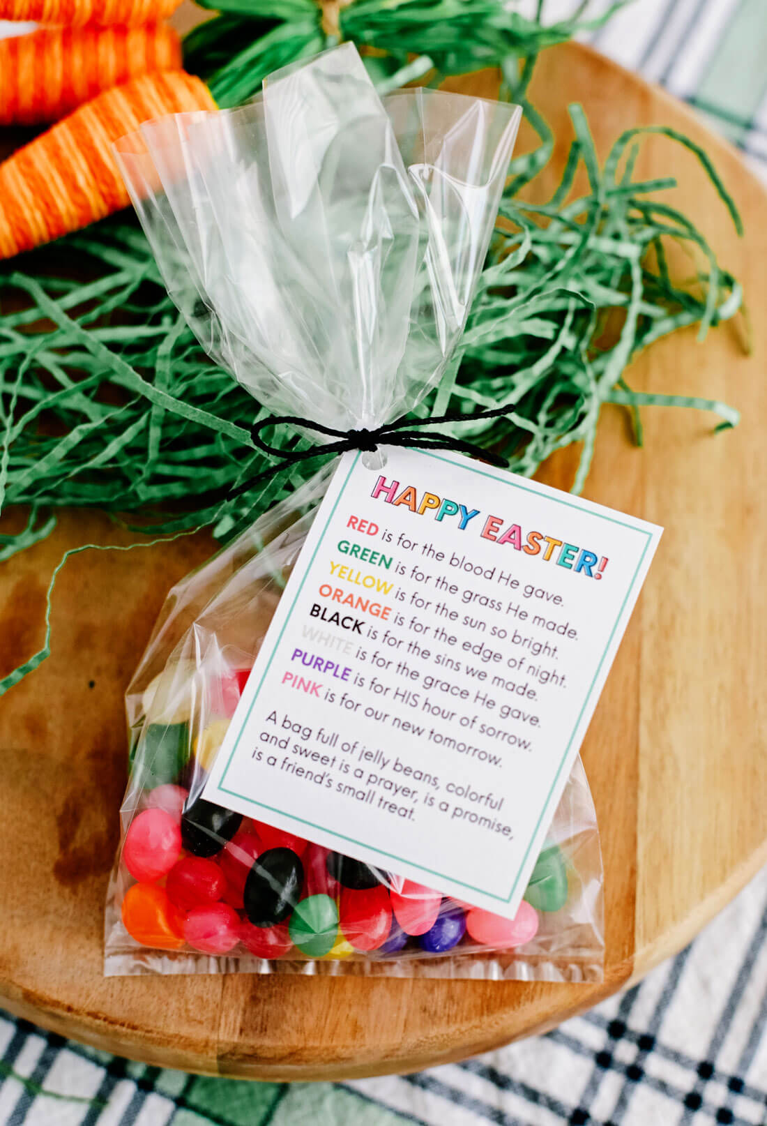 Happy Easter printable tags with Easter quote
