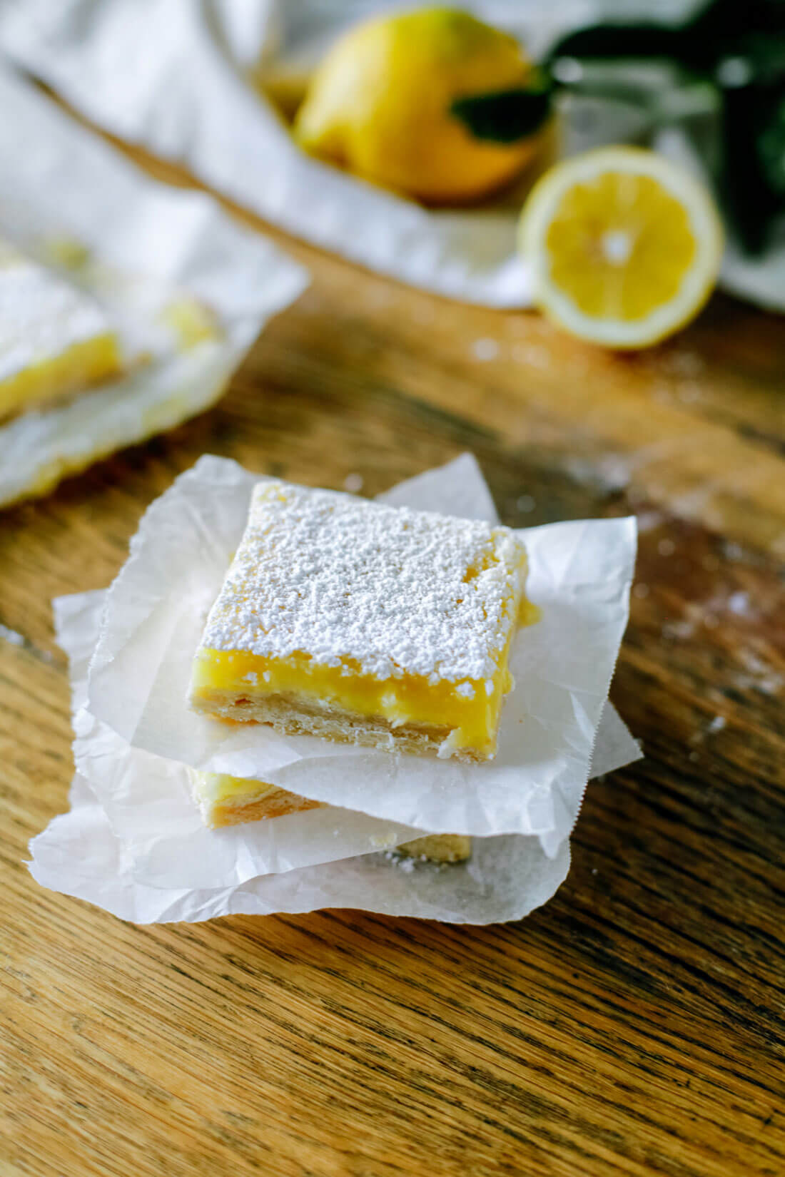 Stacked lemon bars