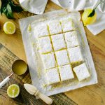 Lemon Bars cut into squares