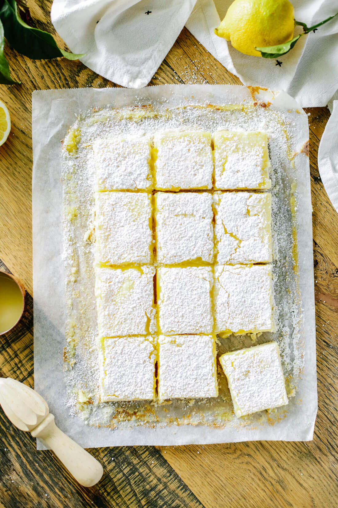 Lemon Bars - full sheet, cut into bars