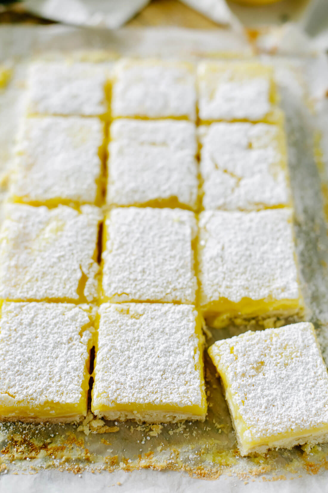 Up close lemon bars