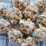 Rainbow Marshmallow Popcorn Balls - using just a few ingredients make these yummy treats.