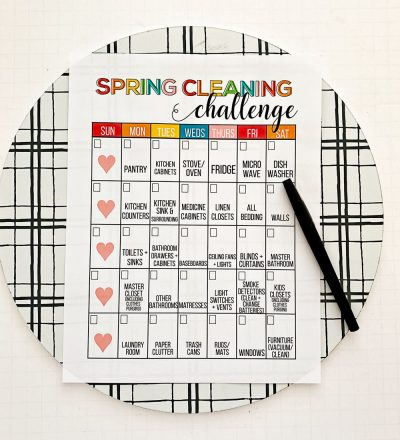 Spring Cleaning Checklist with pen on a clipboard