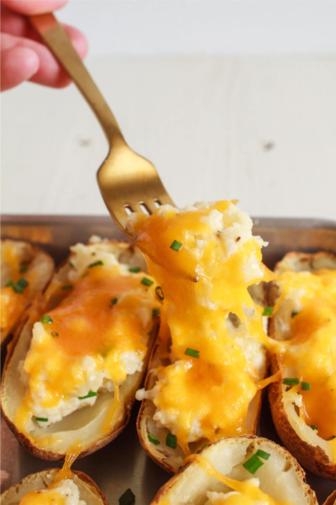 Twice <yoastmark class='yoast-text-mark'>Baked Potato</yoastmark> Recipe
