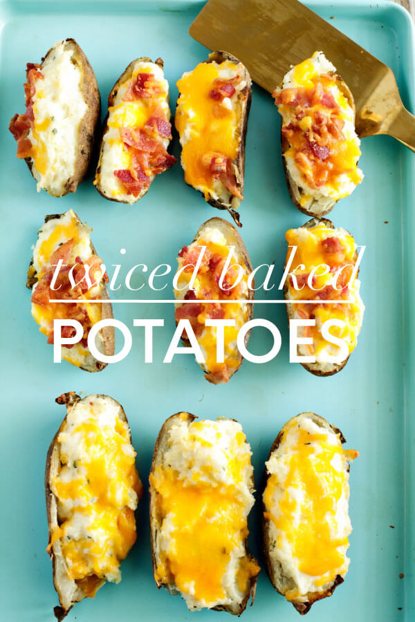 How to make twice baked potatoes - the best side dish/appetizer