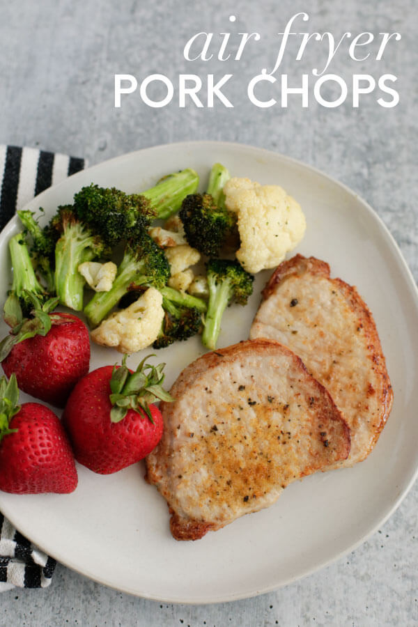 How to make pork chops in the air fryer from 30daysblog