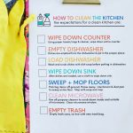 How to Clean the Kitchen - teach your kids how to properly clean with this easy to follow printable