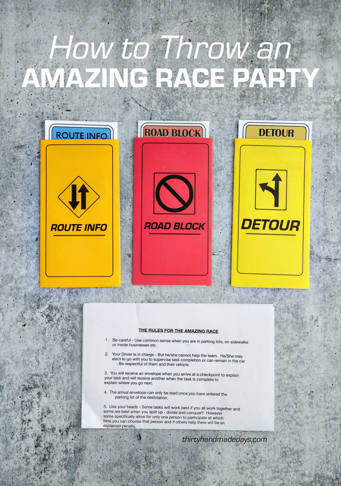 The Amazing Race Birthday Party Ideas For Teens From 30daysblog