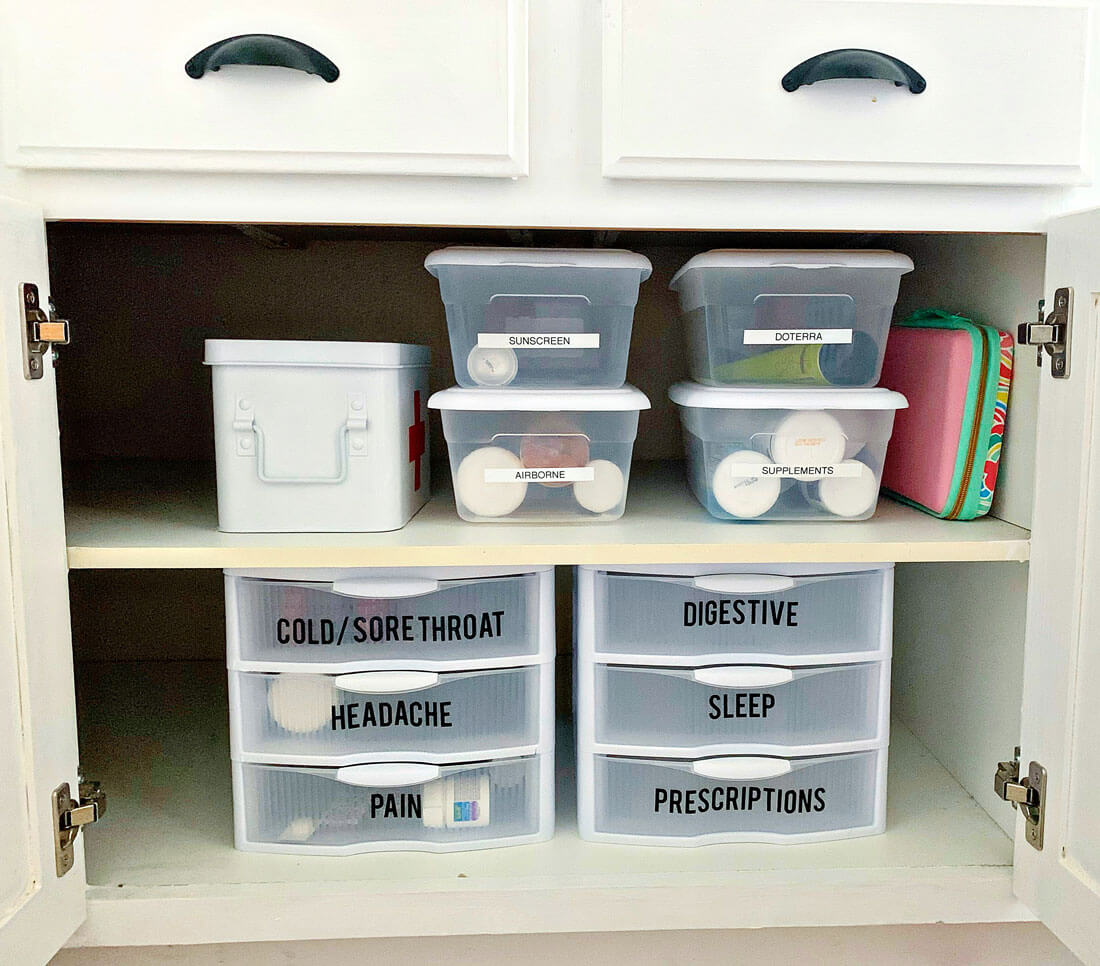 Medicine Cabinet Organizer From 30daysblog