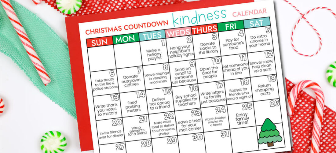 Kindness Christmas Countdown Calendar
