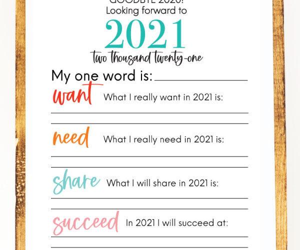 Printable New Year's Resolution List