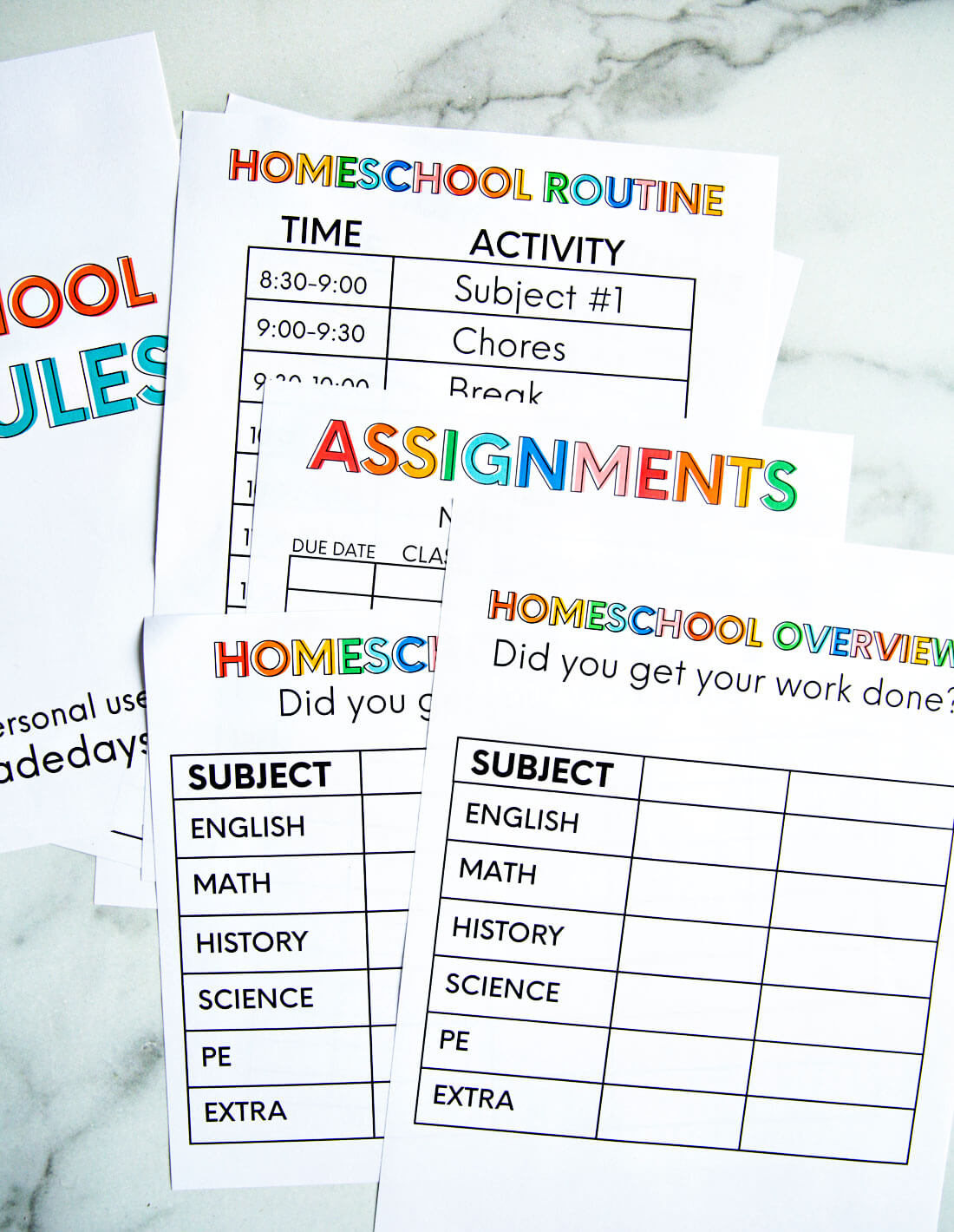 It's just a photo of Printable Homeschool Schedule inside teenager