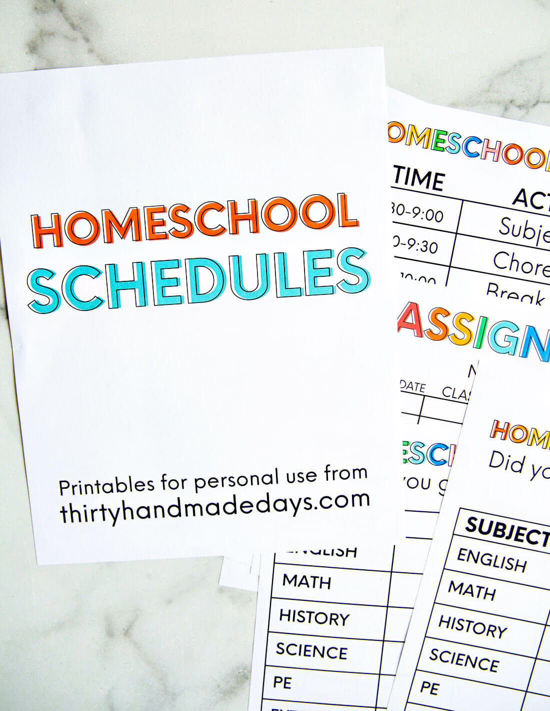 It is a photo of Printable Homeschool Schedule regarding high school