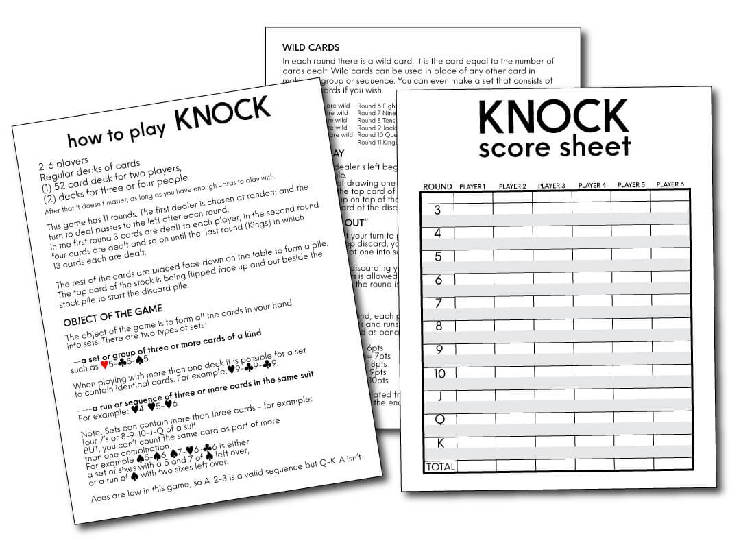 Sevens (Knock! Knock!): Rules for the Fun Family Card Game ...