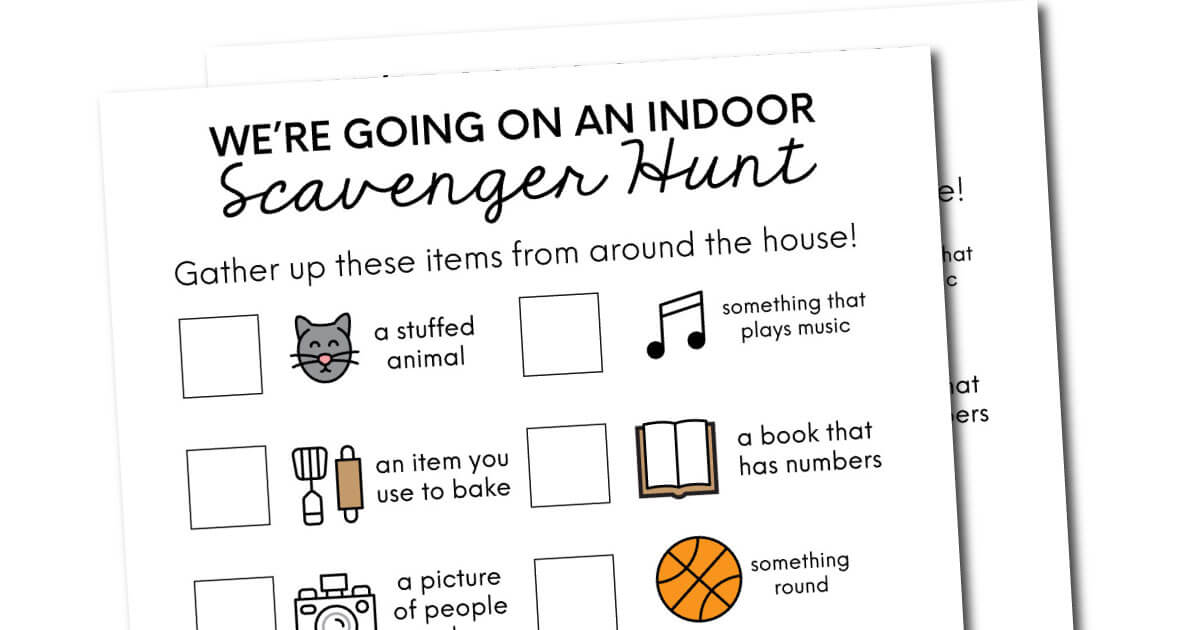 Indoor Scavenger Hunt Ideas From Thirty Handmade Days