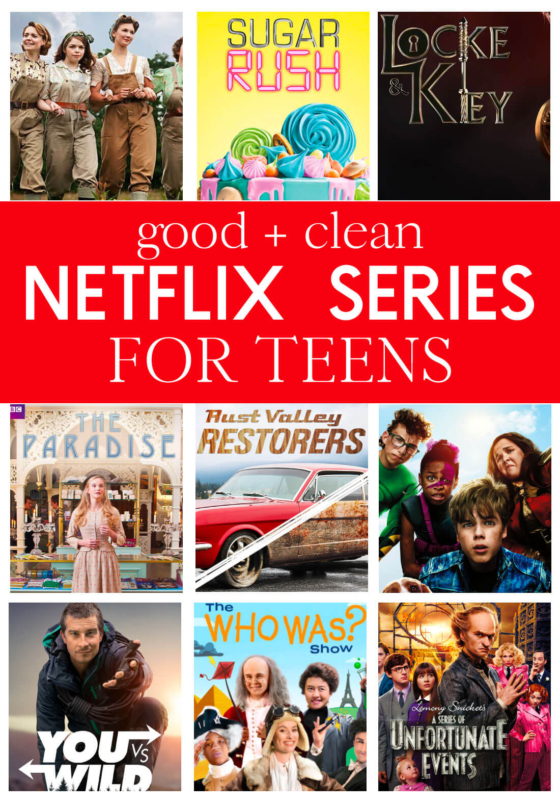 Good and clean netflix series for teens