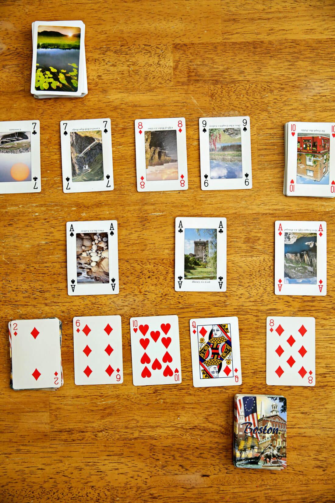 2 player card games - Nerts set up