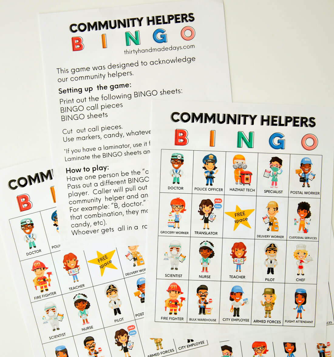 Printable Community Helpers