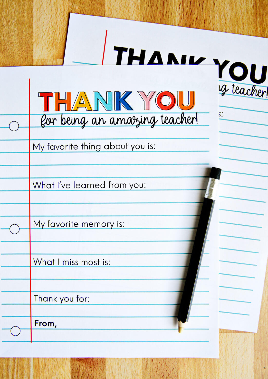 Printable Teacher Appreciation Letter