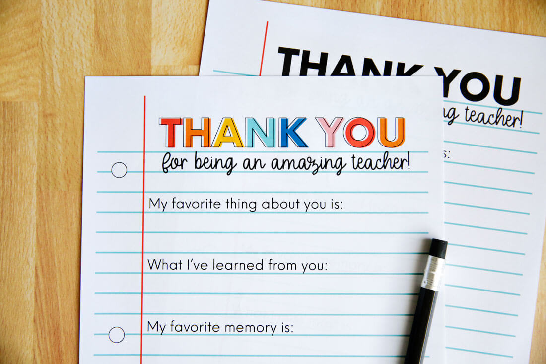 Teacher Appreciation Letter