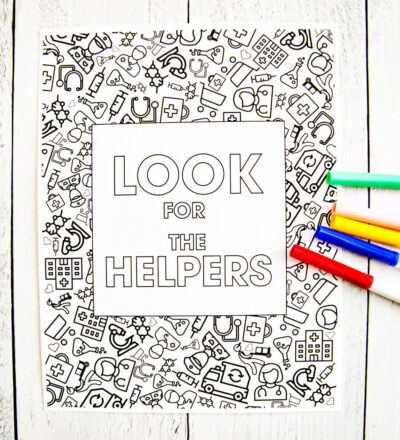Look for the Helpers Coloring Page