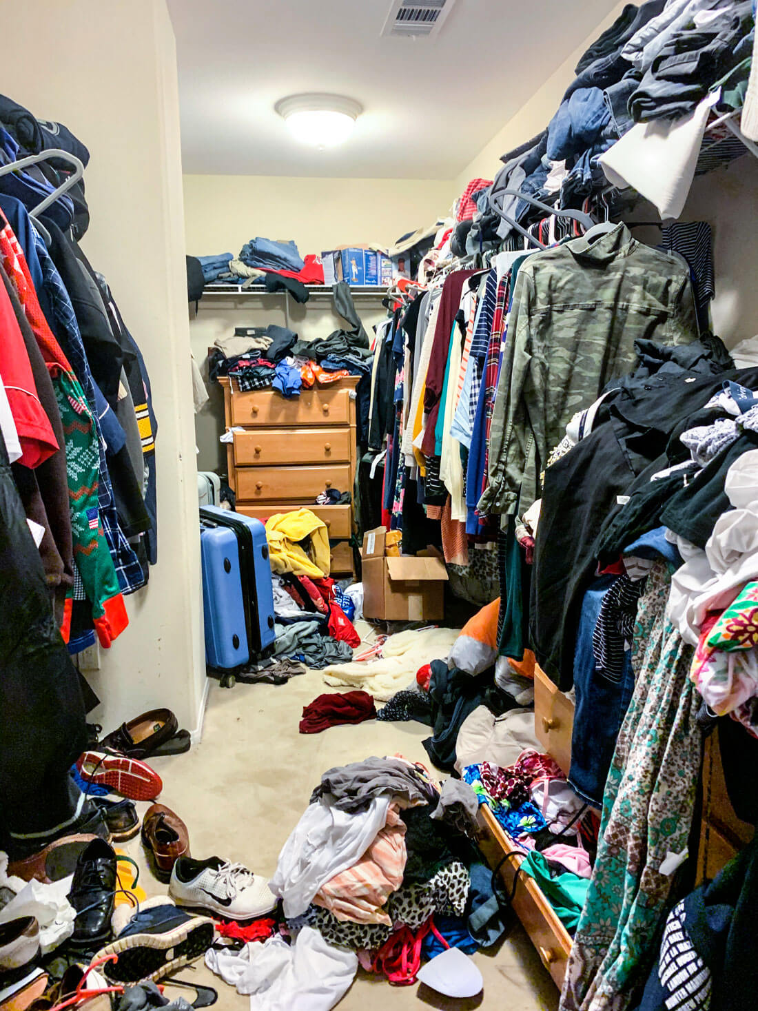 Closet organization ideas, the before